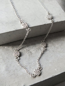 Mini Bubble Disc Necklace | Sterling Silver