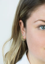 Load image into Gallery viewer, Double Halo Hoops | 18k Gold Plated - Milly Maunder Designs