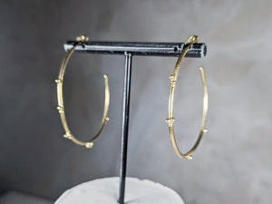 Large Bubble Hoop | 18k Gold Plated