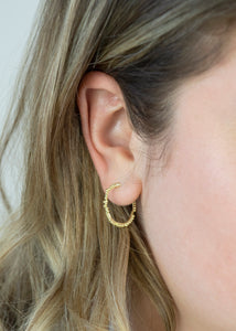 Granulation Hoops | 18k Gold plated - Milly Maunder Designs