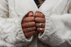 Bubble ring | 18K Gold and Silver - Milly Maunder Designs