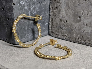 Granulation Hoops | 18k Gold plated