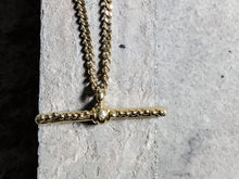 Load image into Gallery viewer, Gold Plated 'T' Bar Pendant