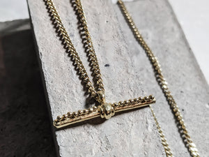 Gold Plated 'T' Bar Pendant