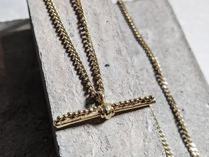 Gold Plated 'T' Bar Pendant - Milly Maunder Designs
