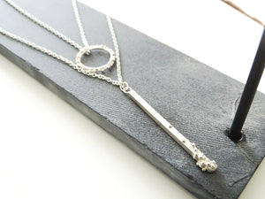 Straight to the point drop pendant | Silver - Milly Maunder Designs