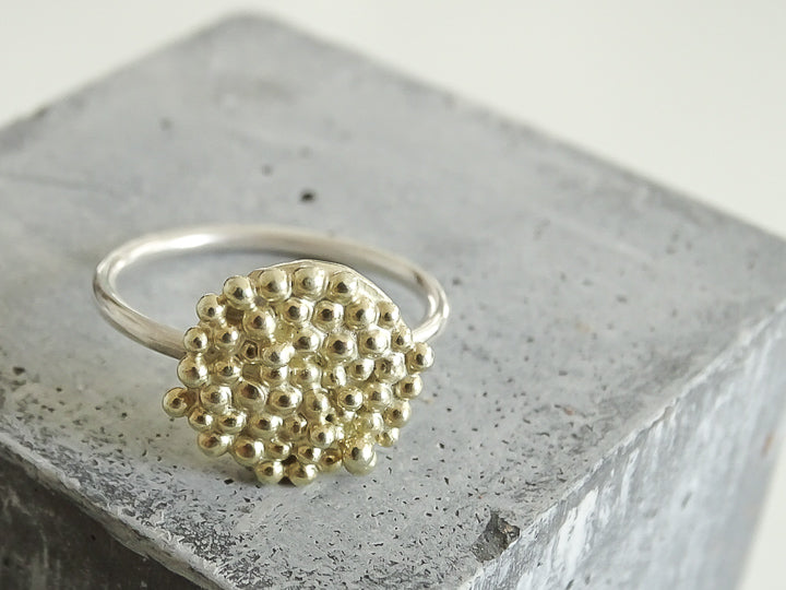 Bubble disc Ring | Gold