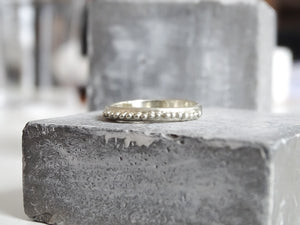 Beaded wedding band