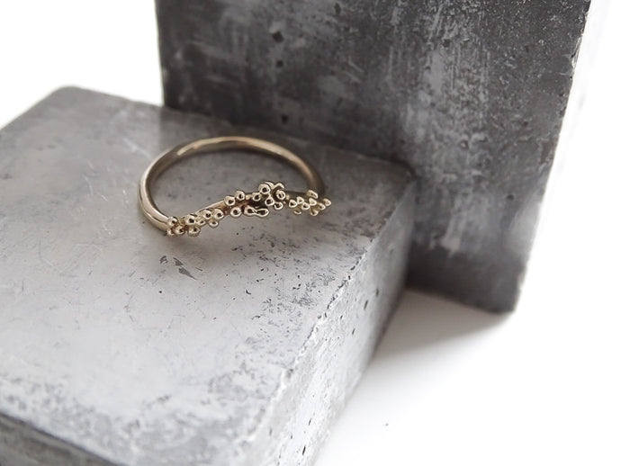 Wishbone, curved bubble ring - Milly Maunder Designs