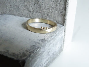2.3 Trio Forged Wedding Band - Milly Maunder Designs