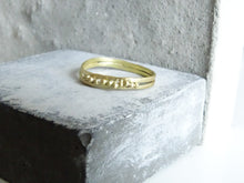 Load image into Gallery viewer, Beaded duo Forged Wedding Band