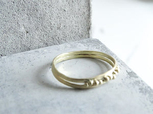Beaded duo Forged Wedding Band - Milly Maunder Designs