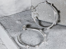 Load image into Gallery viewer, Medium Bubble hoops |  Sterling Silver