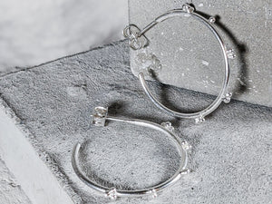 Medium Bubble hoops |  Sterling Silver - Milly Maunder Designs