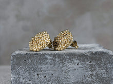 Load image into Gallery viewer, Bubble disc Studs | 18K GOLD plated