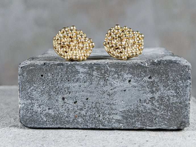 Bubble disc Studs | 18K GOLD plated - Milly Maunder Designs