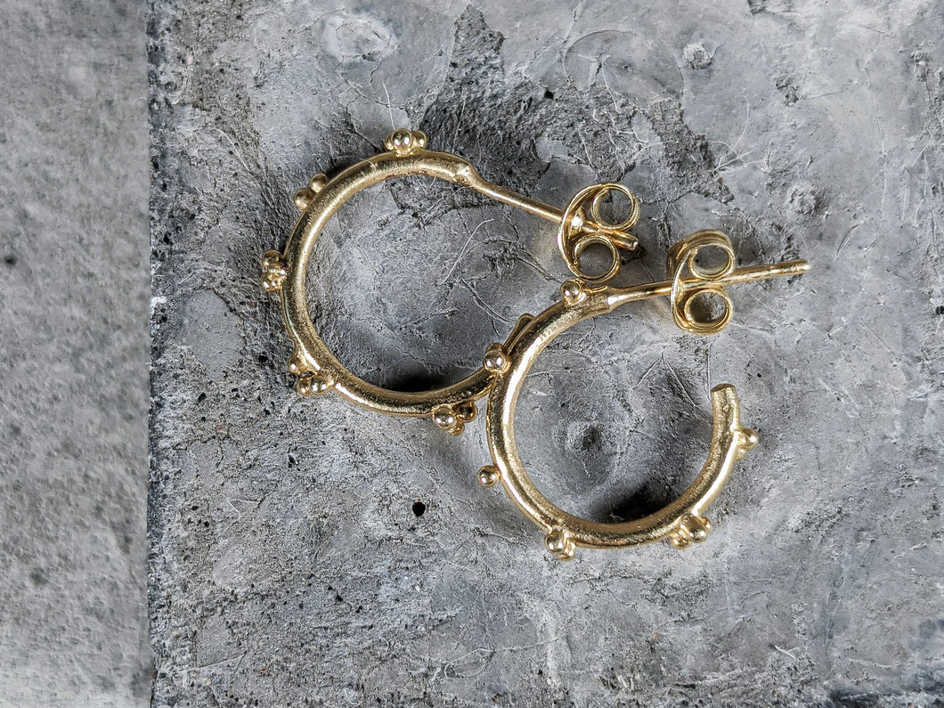 Small bubble hoops | Gold - Milly Maunder Designs