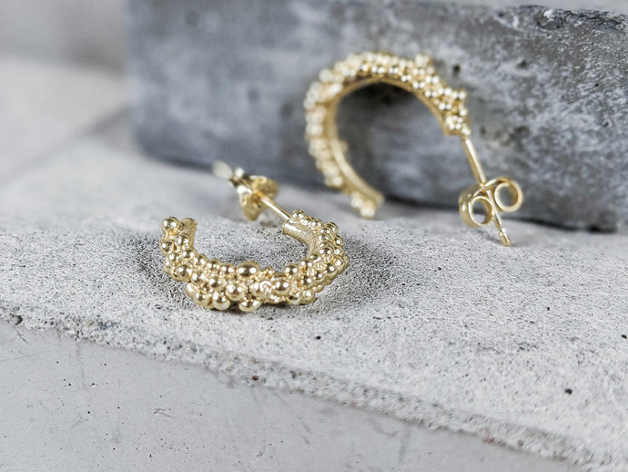 Mini Budo Hoops | Gold - Milly Maunder Designs