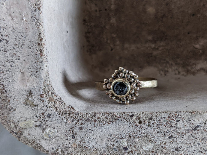 Black Diamond 'Daisy' Ring