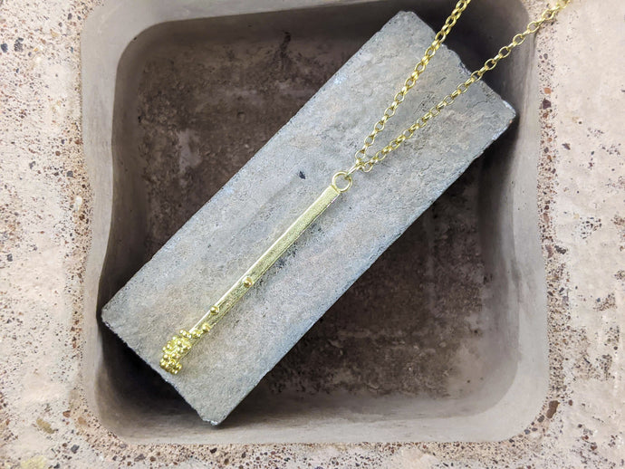 Straight to the point drop pendant | Gold - Milly Maunder Designs