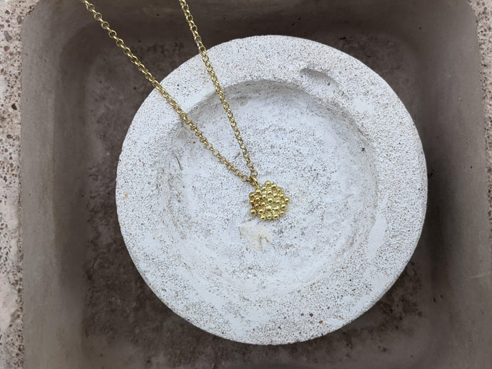 Mini Bubble disc Pendant | 18k Gold Plated - Milly Maunder Designs