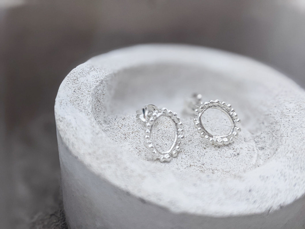 Mini Halo studs | Sterling Silver - Milly Maunder Designs