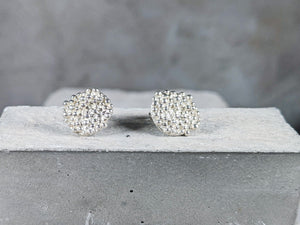 Bubble disc Studs | Sterling Silver