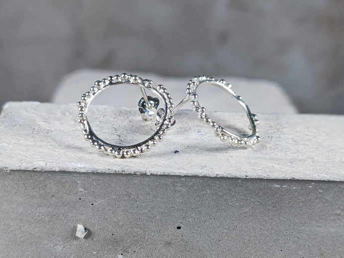 Halo Studs | Sterling Silver