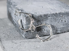 Load image into Gallery viewer, Small bubble hoops | Sterling Silver