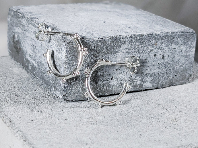 Small bubble hoops | Sterling Silver - Milly Maunder Designs