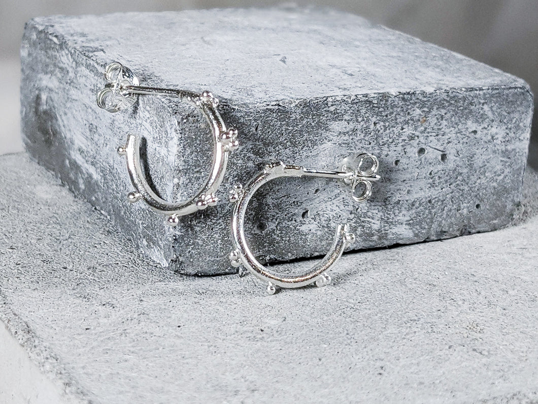 Small bubble hoops | Sterling Silver