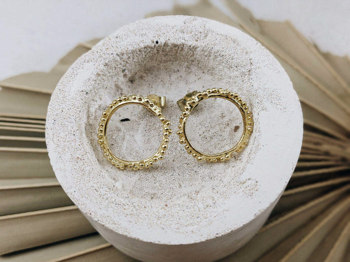 Halo Studs | Gold - Milly Maunder Designs