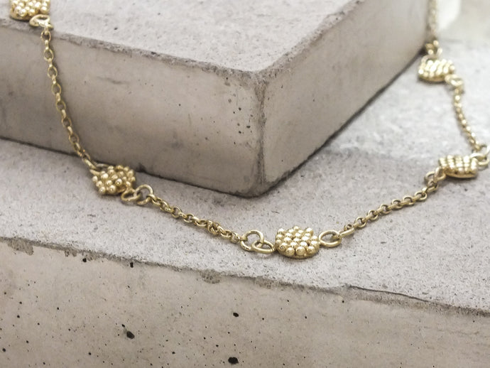 Mini Bubble Disc Necklace | Gold Plated