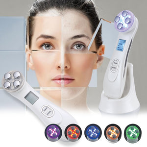 5-in-1 Ultrasonic RF EMS LED Facial Skin Lifting & Tightening Device