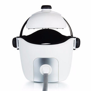 Electric Head Massage Helmet with Air Pressure, Infrared Heating & Music System