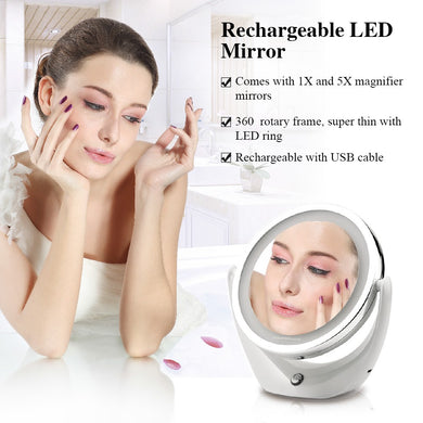 Cosmetic Smart Makeup Mirror with Light 5X