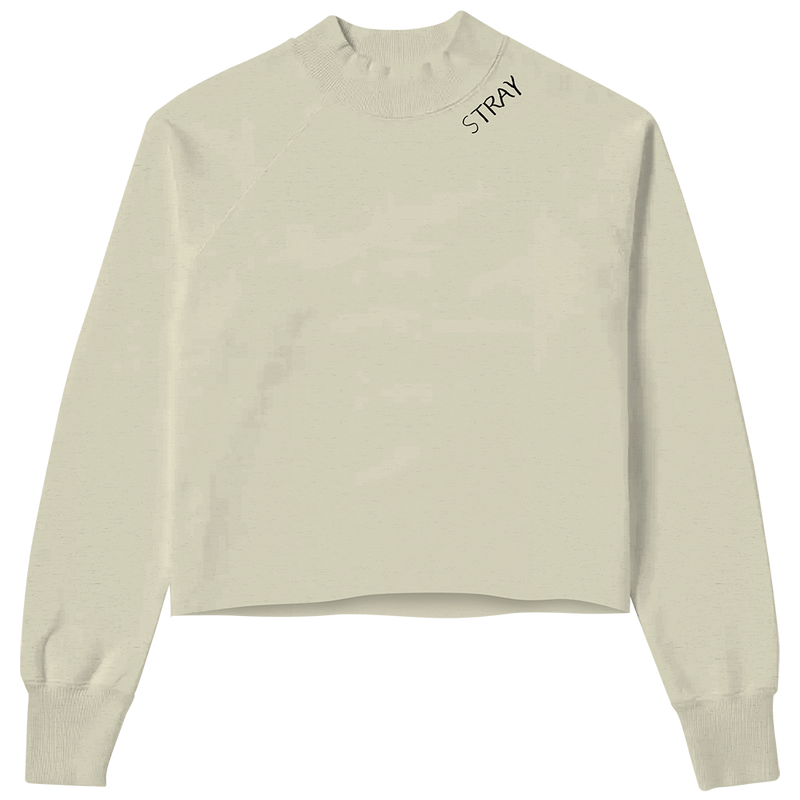 Stray Cropped Mock Neck