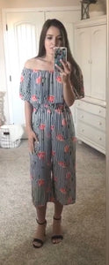 Striped Floral Jumpsuit