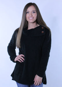 Fleece Black Sweater