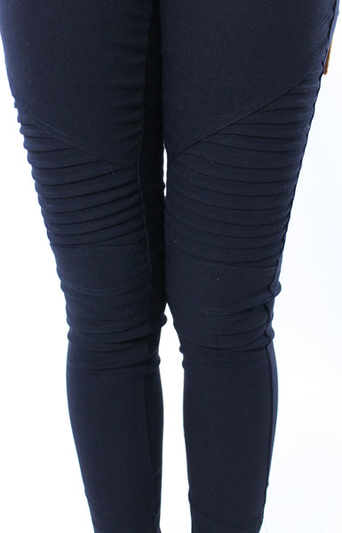 Stretch Moto Jeans - Black