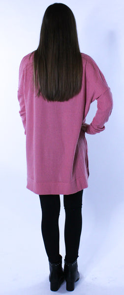 Pink Thermal Knit Top
