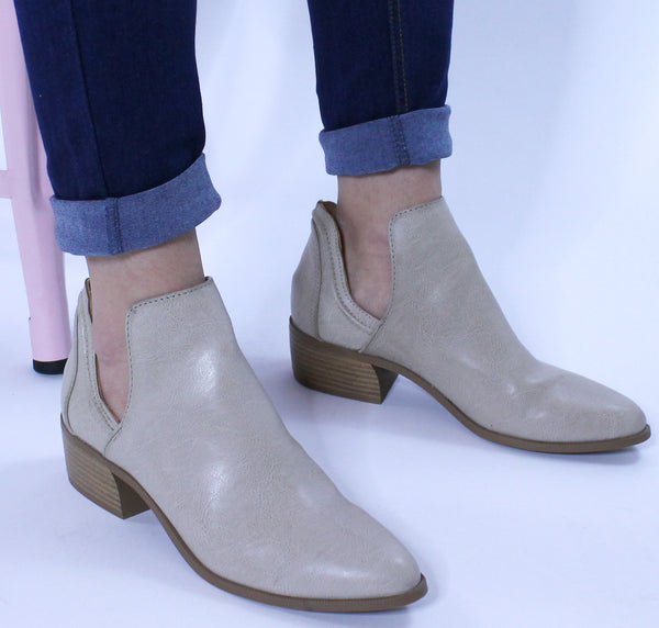 Stone Leather Booties