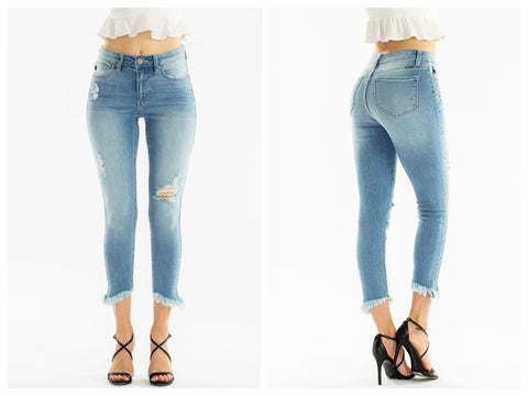 Summer Nights Distressed Denim Kan can