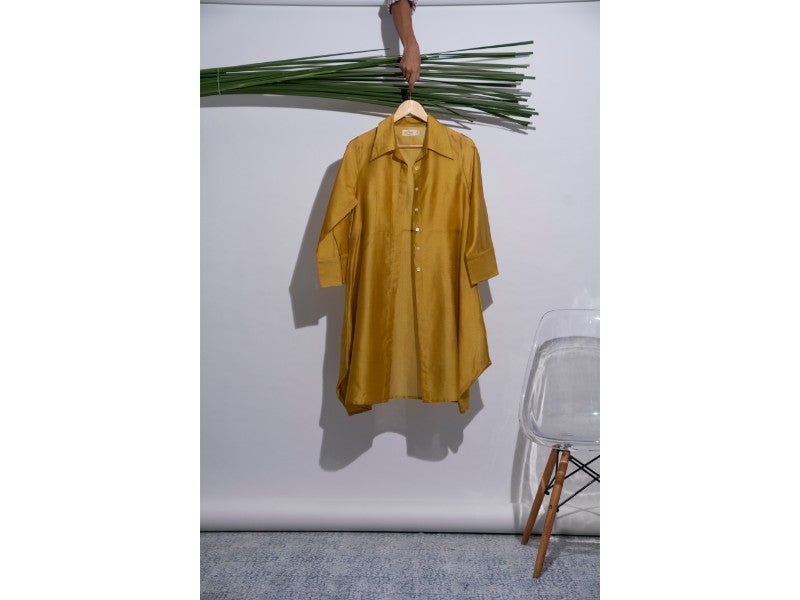 Shirt style overlay in Cirage Yellow