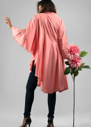 Holly top in salmon pink