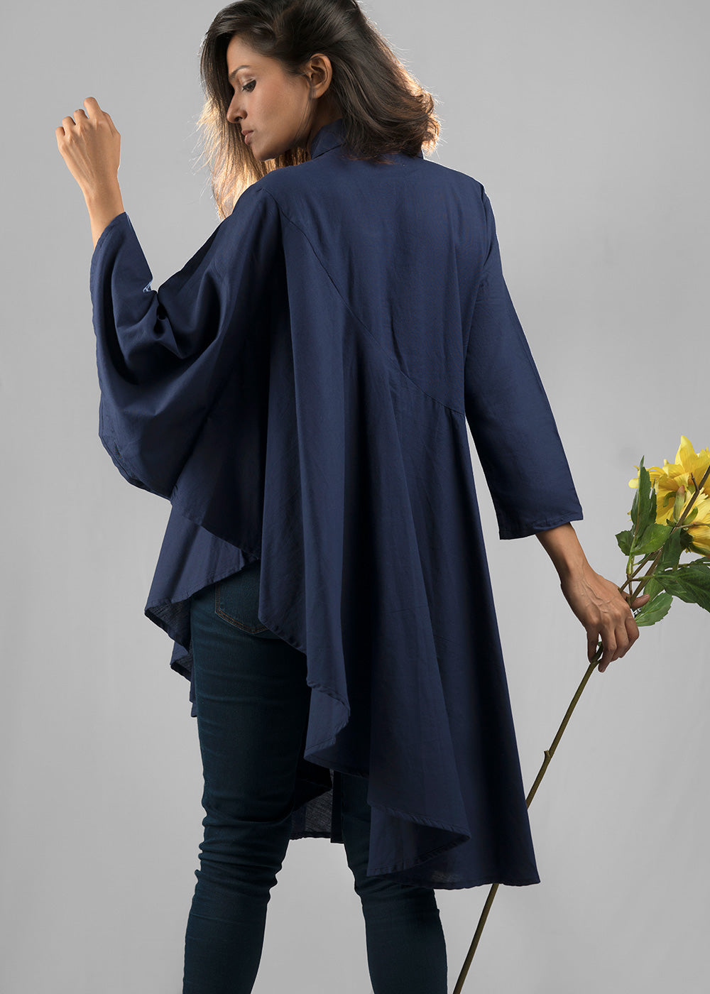Holly top in midnight blue