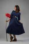 Anna Dress in midnight blue