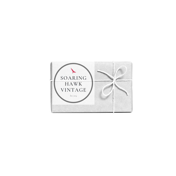 The Soaring Hawk Vintage Gift Card, Stress Free Gifting