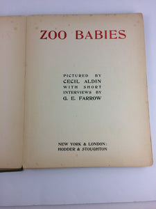 Zoo Babies by G.E. Farrow, Illustrator Cecil Aldin 1913