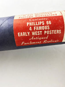4 Outlaw Wild West Replica Posters from Phillips 66